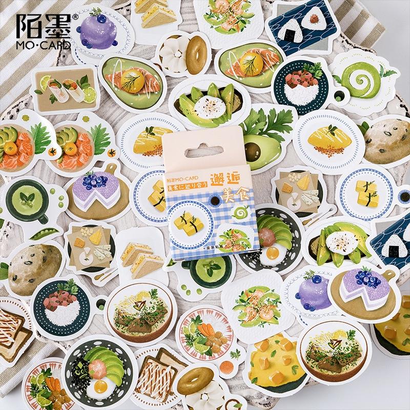 45-pz-pacco-cibo-intorno-al-mondo-adesivi-set-scrapbooking-adesivi-per-diario-planner-fai-da-te-artigianato-scrapbooking-diario