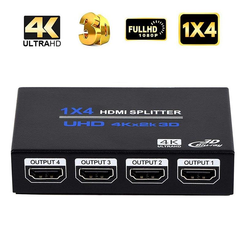Répartiteur HDMI un point quatre hdmi1 entrée 4 sorties écran divisé répartiteur vidéo HDMI 1 point 4 hub flexible pour divers écrans
