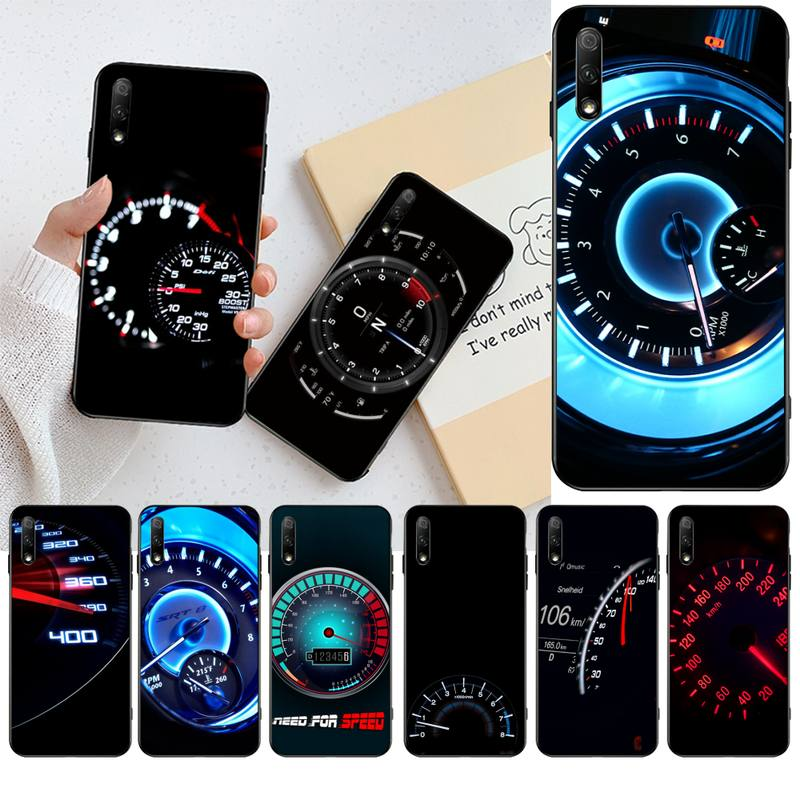 HPCHCJHM, velocímetro de coche Racing Bling, funda de teléfono bonita para Huawei Honor 30 20 10 9 8 8x 8c v30 Lite view pro