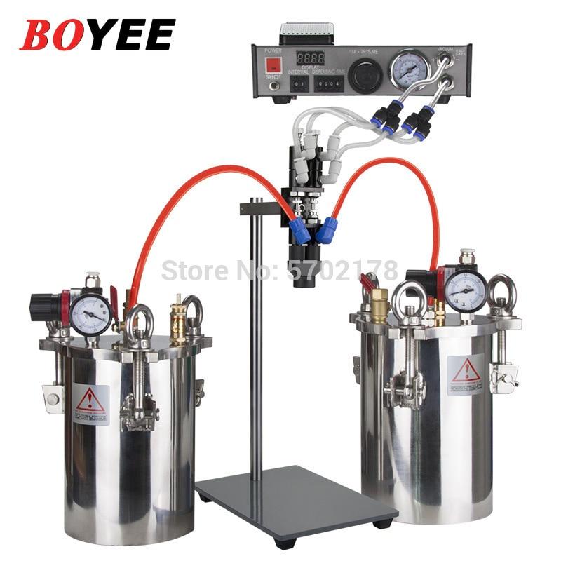 جهاز توزيع الصمام السائل المزدوج الاستغناء الكمي مجموعة كاملة من جهاز توزيع AB موزع الغراء