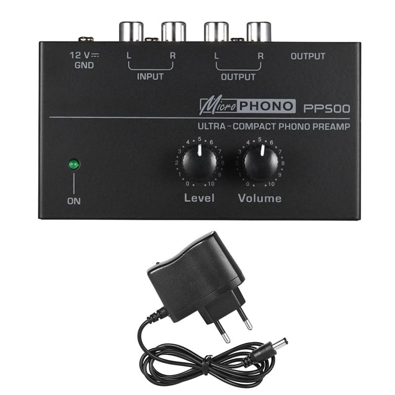 PREAMPLIFICADOR DE Phono de Audio Ultra compacto giradiscos electrónico preamplificador nivel controles de volumen VDX99