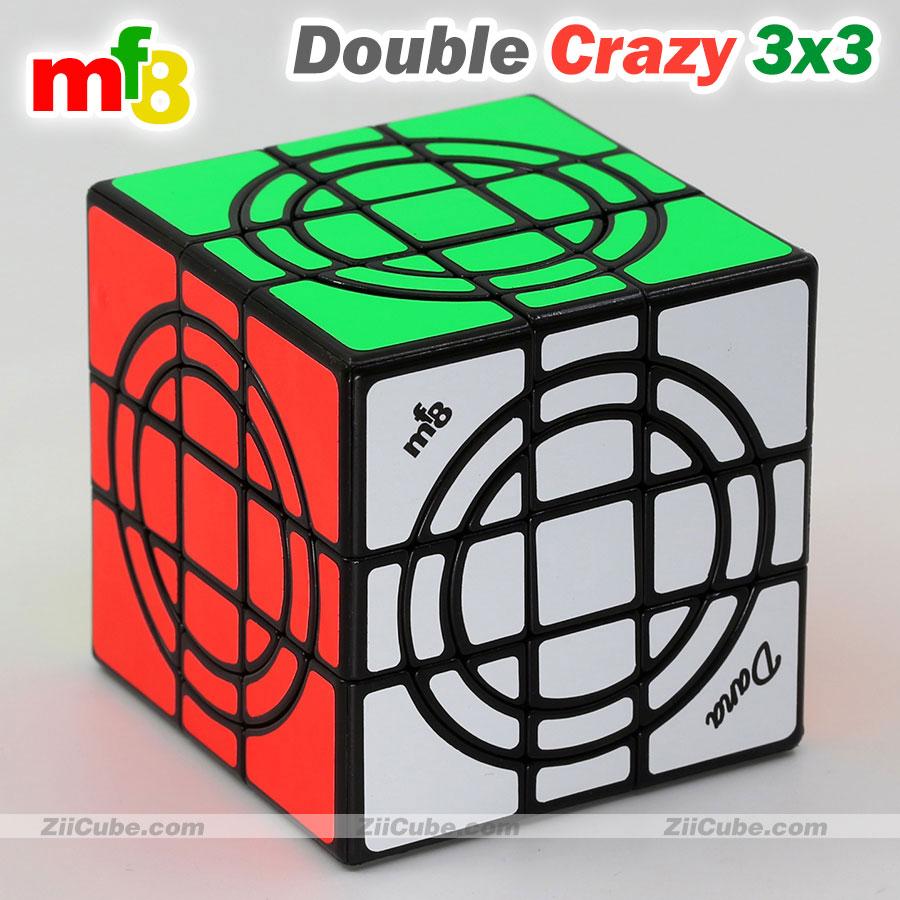 cubo magico mf8 duplo 3x3x3 quebra cabeca adesivo circulo duplo