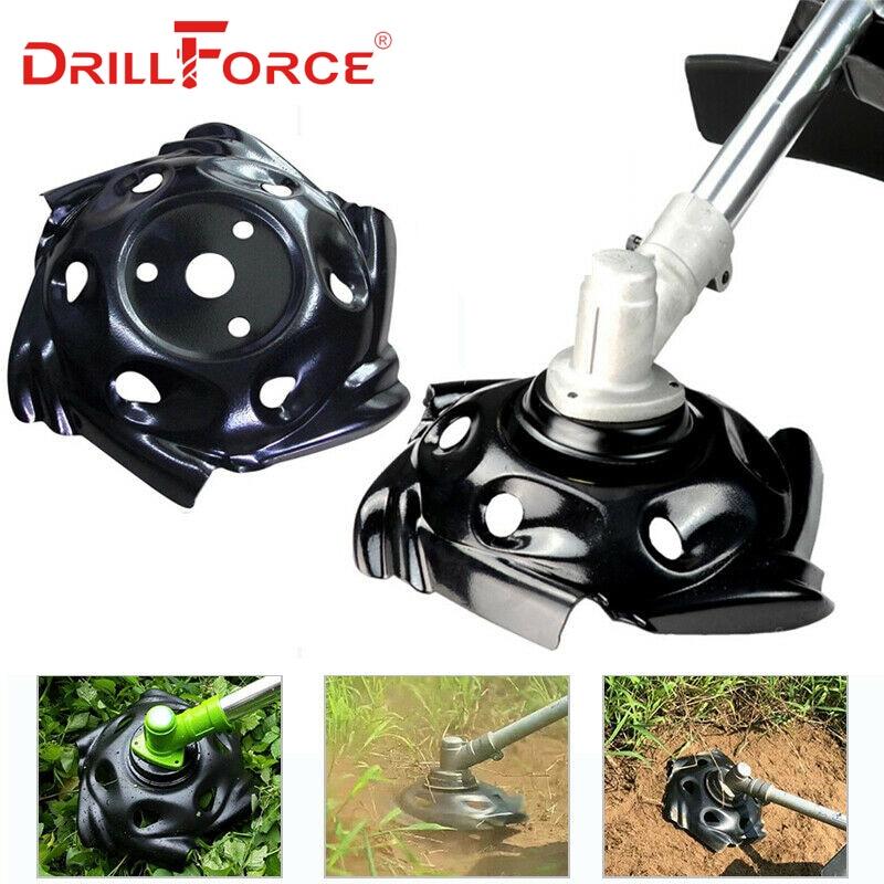 Drillforce hierba cortante cortacésped bandeja recortadora acero cabeza máquina accesorio jardín herramienta eléctrica césped cortacésped piezas suministros