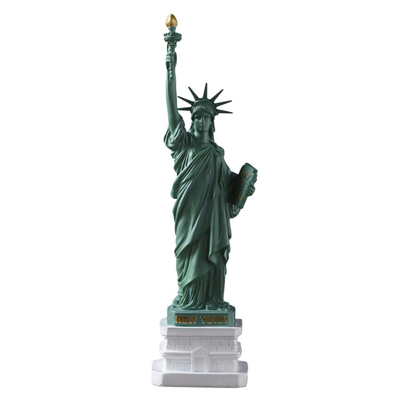 Decoração do escritório estátua da liberdade escultura resina vintage abstrato artware escultura decoração para casa enfeites de mesa presentes
