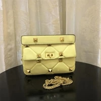 brand luxury classic willow nail diamond shoulder bag for women genuine leather lattice big rivet handbag bag lady top quality