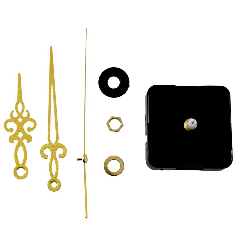 Золотые стрелки Черные DIY кварцевые часы
