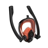 dedepu full face snorkeling mask double tube silicone full dry diving mask adult men women swimming mask diving goggles 2021 new