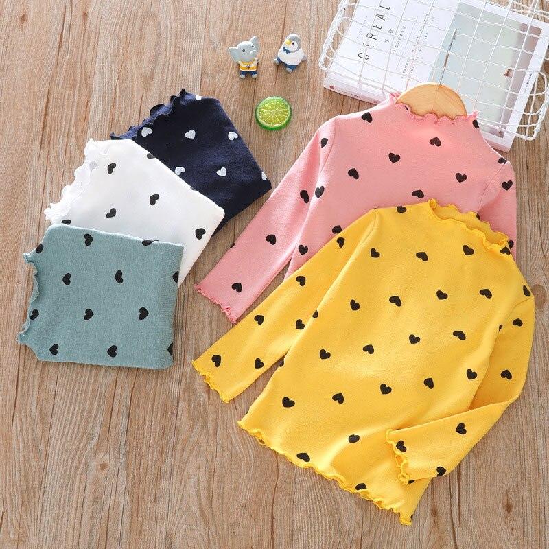 Chemises dautomne pour garçons filles   Vêtements à manches longues, en coton, hiver col roulé