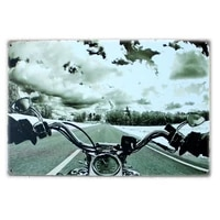 vintage retro wall decor tin signsmotorcycle decorative metal sign for homepubcafe and hotel8 x 12 inches