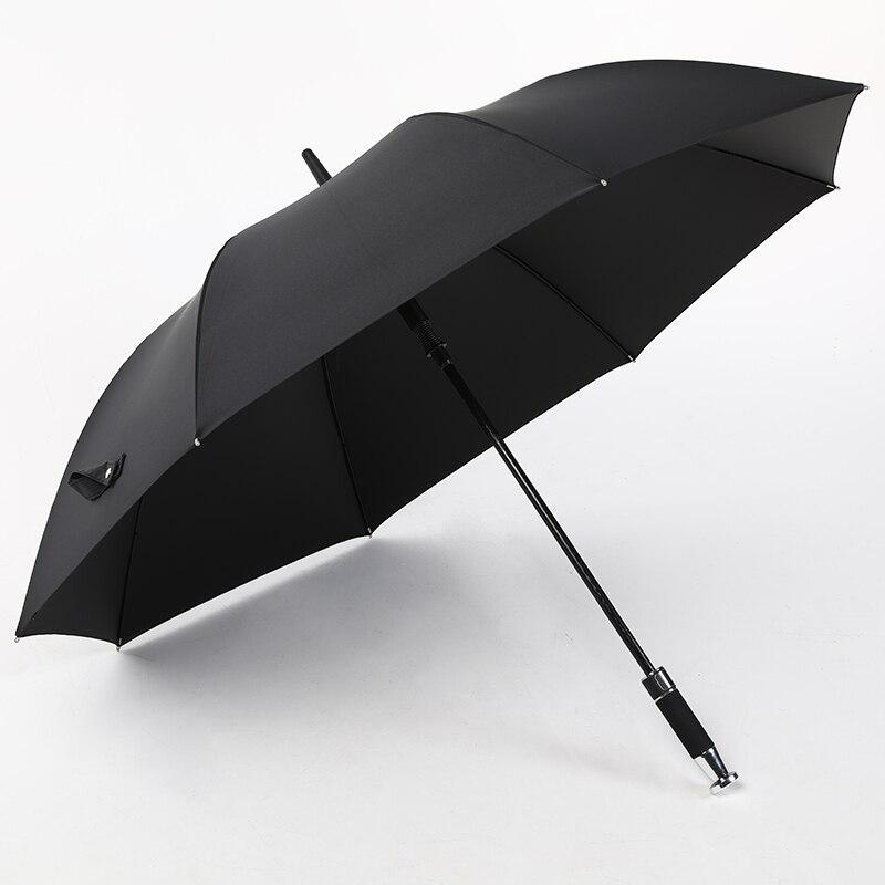 Men's Long Handle Umbrella Oversized Black Automatic Umbrella with Straight Shank enlarge