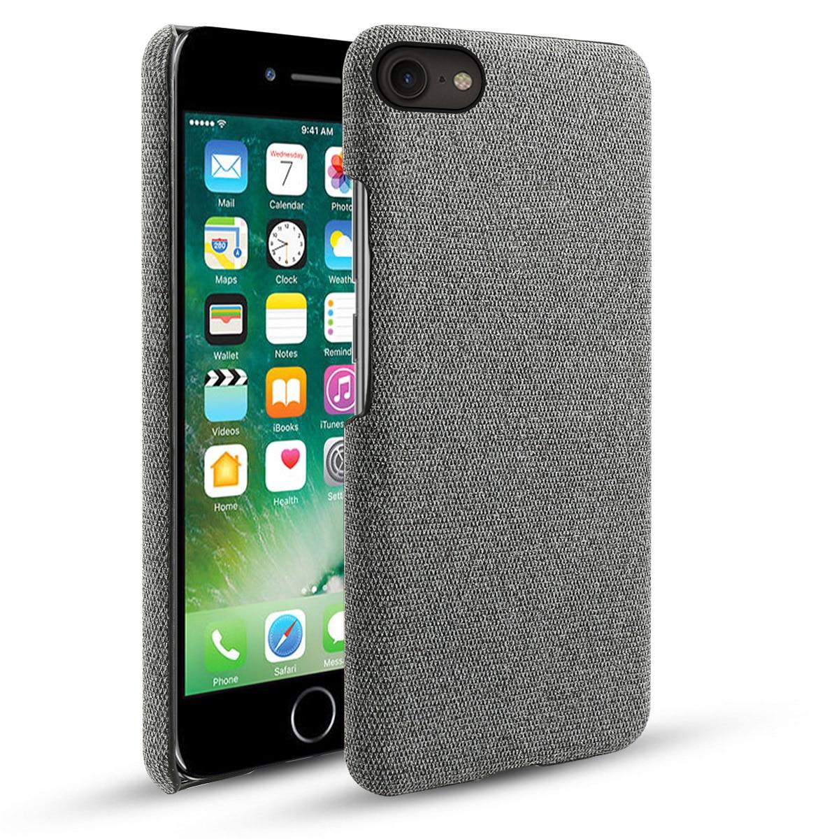 Para o iphone se 2020 5 5S se caso fino retro tecido pano duro capa para iphone 11 pro xs max x xs xr caso à prova de choque