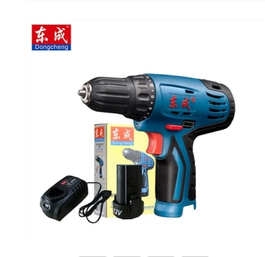12-VoltDongcheng Power Drill  Max DC Lithium-Ion Battery 20mm 2-Speed Electric Cordless Drill Mini Screwdriver Impact Driver