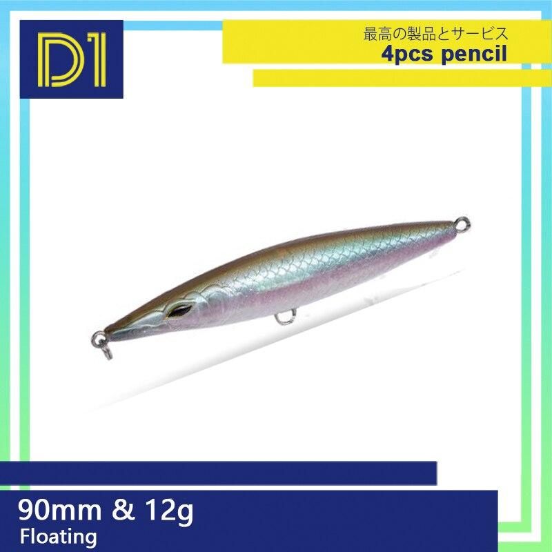 4 шт. приманка для рыбалки карандаш 90/110/130 мм поплавок, stickbaits рыболовных приманок плавающий гулять с собакой воблеры для рыба сибас DT3002
