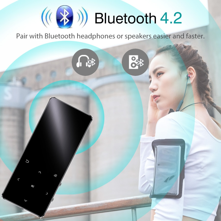 MP3 Player With Bluetooth Speaker Hifi Portable Walkman with Fm Radio Recording Built-in Speaker Touch Key 1.8 Inch Tft Screen enlarge
