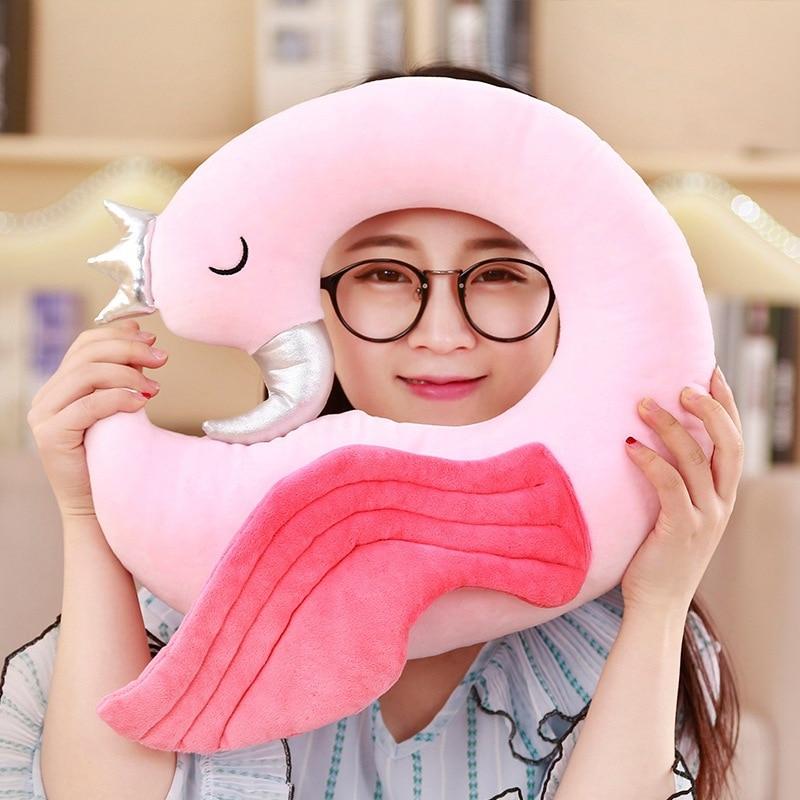 Delicate Cute Pink flamingo Doll Comfy Pillow Soft Sofa Cushion Plush Toy Stuffed Animal Room Decor Birthday Gift Baby Present