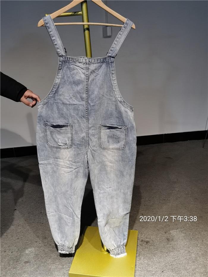 Women Print Cartoon Cat Denim Jumpsuits Rompers Overalls New Hole Loose Beaded Jean Pants Female Casual Long Pants Jumpsuits Aliexpress