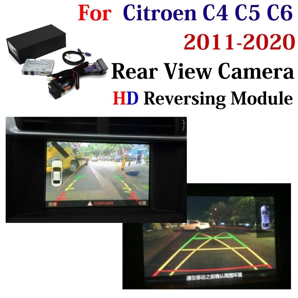 Car Reversing Trajectory Track Guide Rear Camera Decoder For Citroen C4/C5/C6 2011~2020 Original Screen Upgrade Parking Adapter