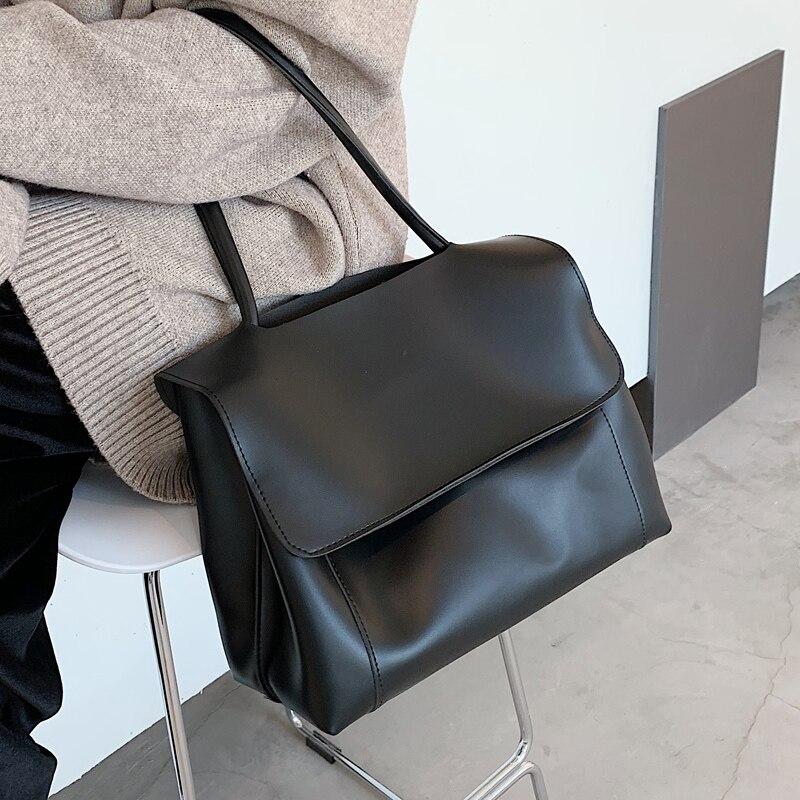 Große Kapazität PU Leder Handtasche Taschen Für Frauen 2021 Neigen Branded Große Schulter Handtaschen Frauen Crossbody Geldbörse