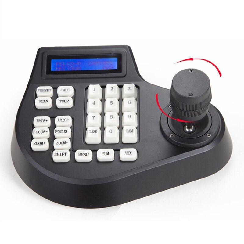 Mini Coaxial CCTV teclado controlador LCD 1,5 km Joystick RS485 PTZ velocidad Domo Cámara soporte para Pelco SAMSUNG AD panasonil