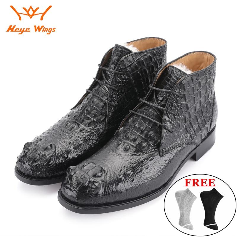 الخريف والشتاء الاسلوب المناسب البقر الصبي الأحذية سيامي جلد التمساح الصوف بطانة رجال الأعمال اللباس الأحذية