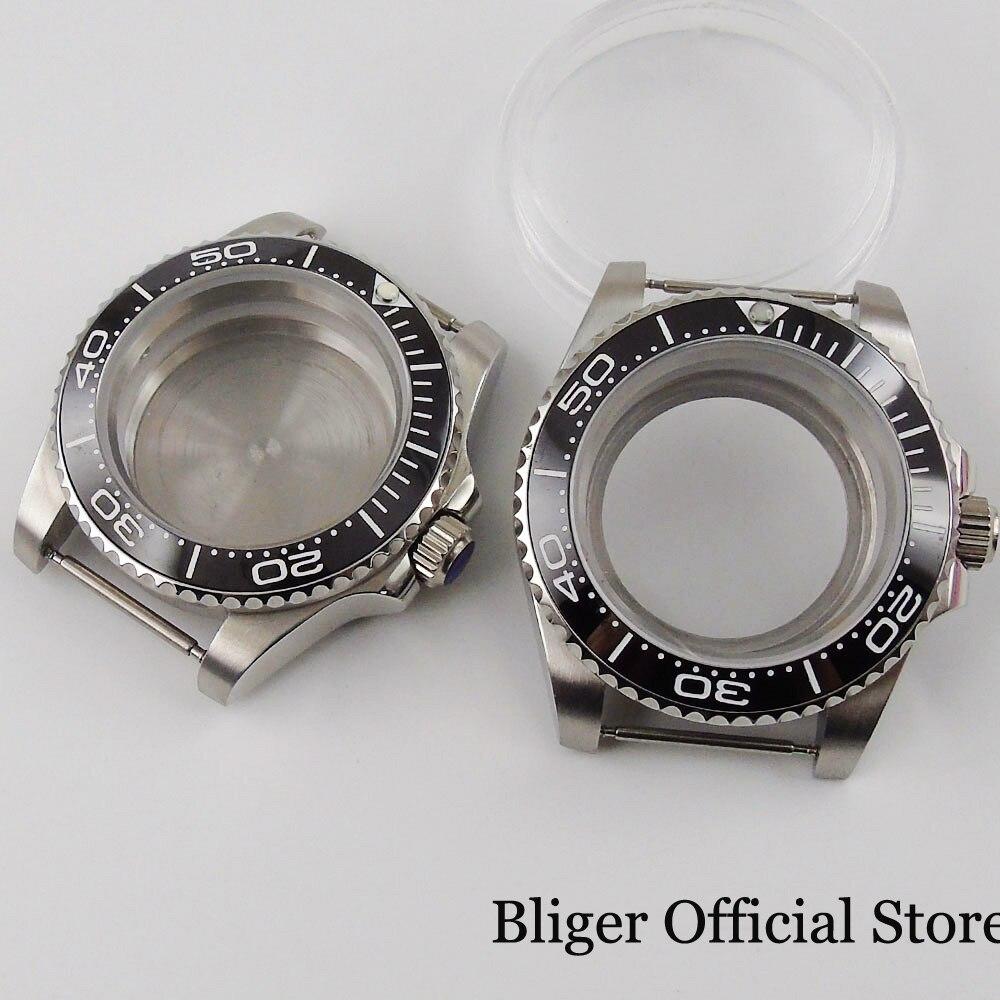 حافظة ساعة اليد لـ NH35 NH35A NH36 NH36A ، 40 مللي متر ، زجاج مسطح ، إطار سيراميك ، رؤية/ظهر ذهني