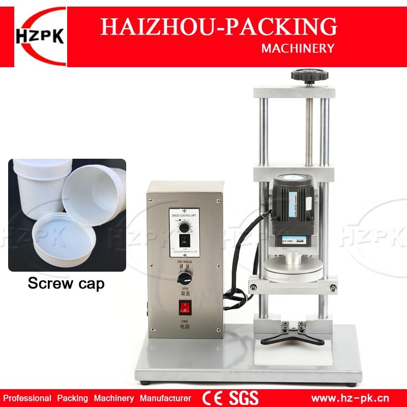 HZPK شبه التلقائي آلة السد الكهربائية السد لحجم كبير غطاء زجاجة غطاء ضغط الجدول آلة البلاستيك/زجاجة من الزجاج