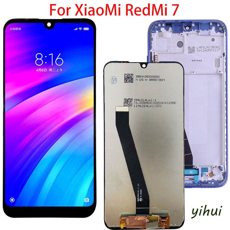 Original LCD For Xiaomi Redmi 7 LCD With Frame Display Screen For Redmi7 LCD Screen With Frame Display amoled lcd display for xiaomi mi 9t display with frame