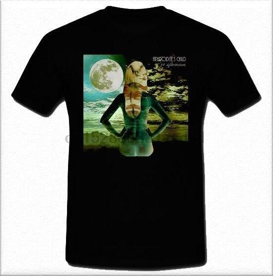 Afroditas niño griego progresivo rock band Demis Roussos tamaño S M L XL 2XL100% algodón casual hombres manga corta Camiseta cuello redondo