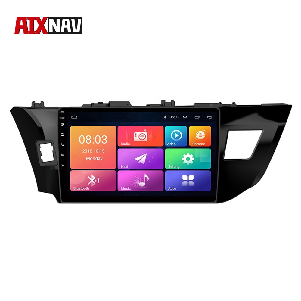Autoradio Bluetooth 1 Din pour Toyota Levin   Autoradio, avec affichage, GPS, Navigation arrière, caméra, écran tactile, 2014 2015