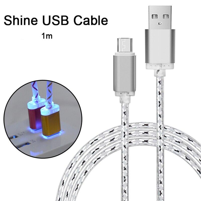 Cable LED brillante de carga rápida, Cargador Micro USB, 3A, 5V, 15W,...