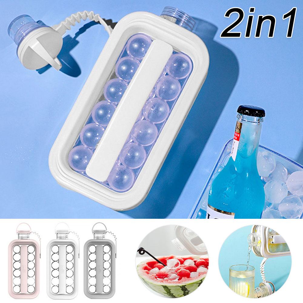 Hervidor de hielo portátil 2 en 1, fabricante de cubitos de hielo...