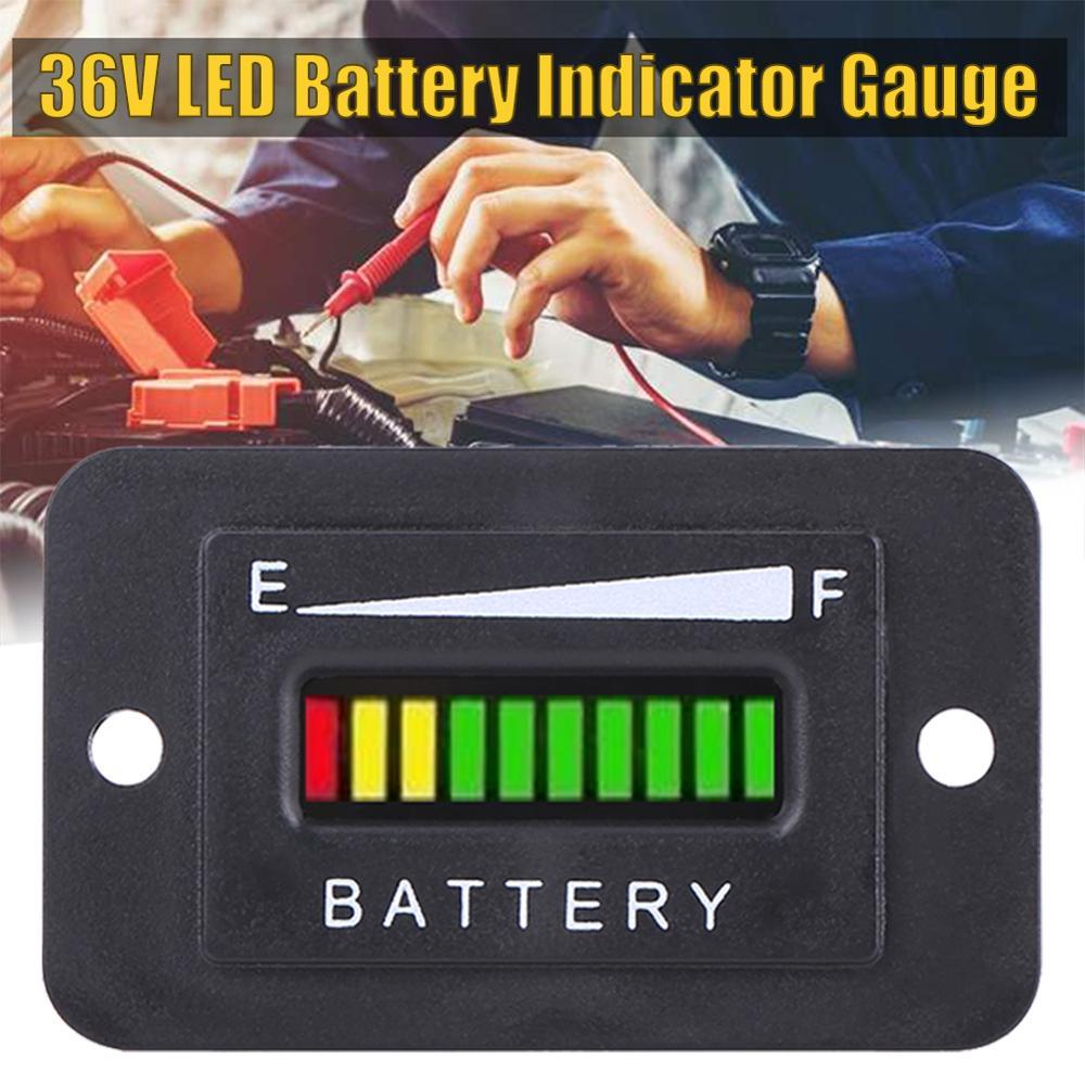 Indicador indicador de batería de 36 voltios medidor de descarga probador LED estado de la batería indicador de carga impermeable Monitor medidor