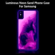 Nouveau Noctilucent néon sable mouvant étui pour samsung galaxy note 10 pro 8 9 S10 S9 plus A9 A8 J8 J6 A70 A50 S20 couverture dynamique