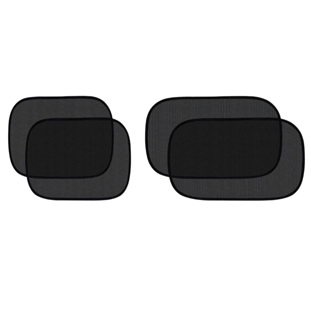 4pcs Car Sun Shade Car Window Shade Sun Glare Protector Universal Auto Back Seat Window Sunshade(Black)