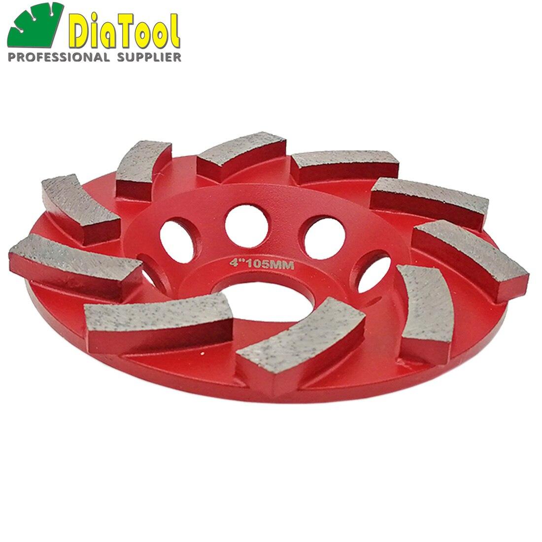 "SHDIATOOL 2pcs 4"" x10 Diamond Segmented Turbo Grinding Cup Wheel Concrete Arbor 7/8"" grinding disc"
