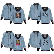 High Quality Lil Peep Cry Baby Denim Jacket Xxxtentacion Revenge Hooded Denim Jacket Men/Women Hoodies Spring Autumn sweatshirt