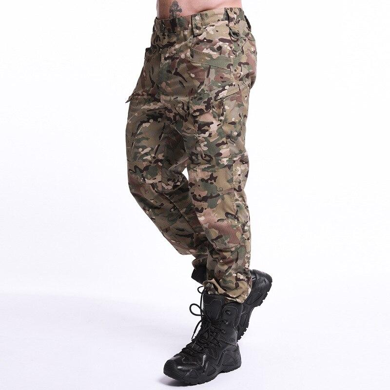 Брюки-карго мужские камуфляжные с наколенниками, тактические штаны в стиле милитари, униформа в стиле милитари для страйкбола, пейнтбола, а...