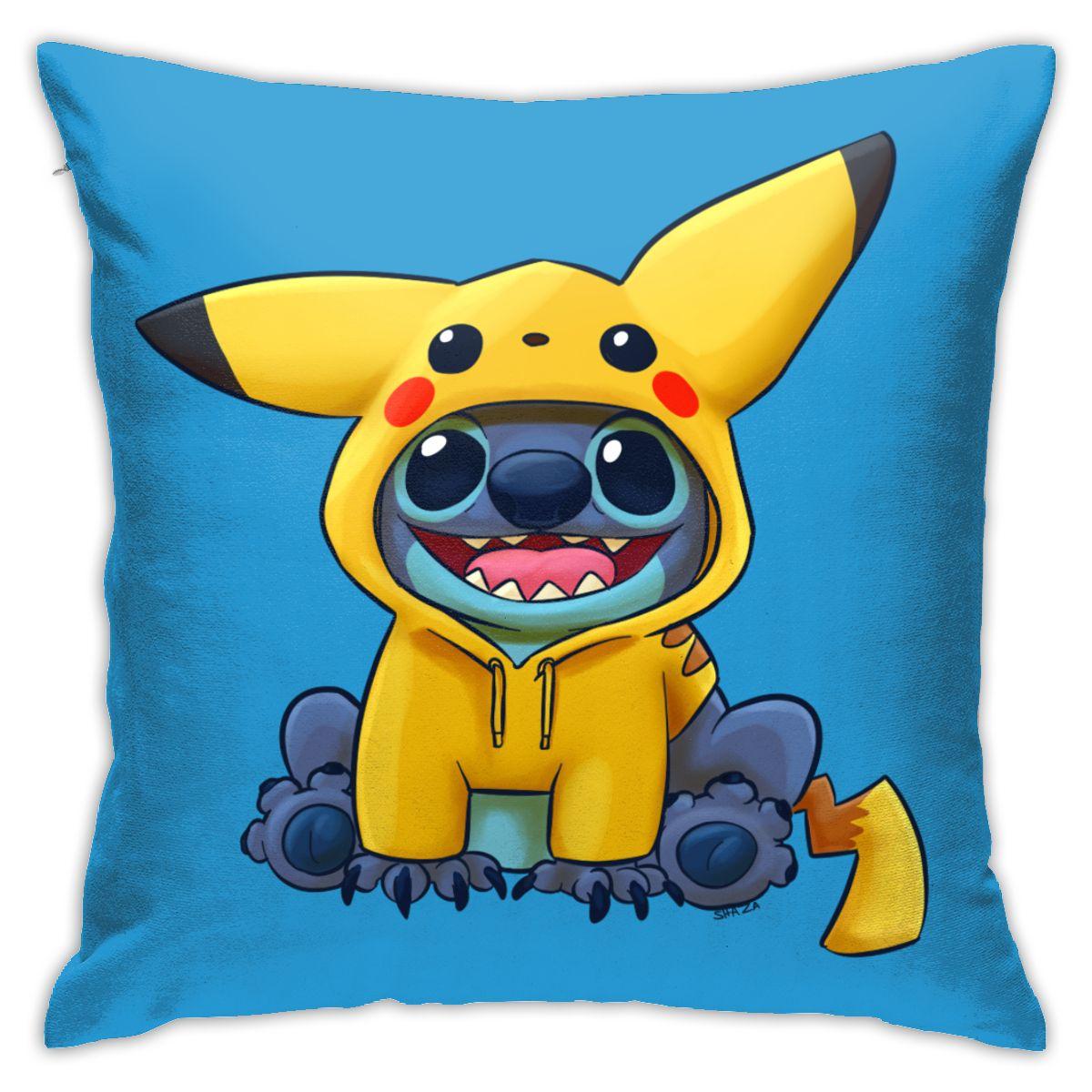Чехол для подушки с рисунком стежка чехол для подушки милый Стич аниме винтажный декоративный чехол для подушки Чехол для дивана стула поду... чехол