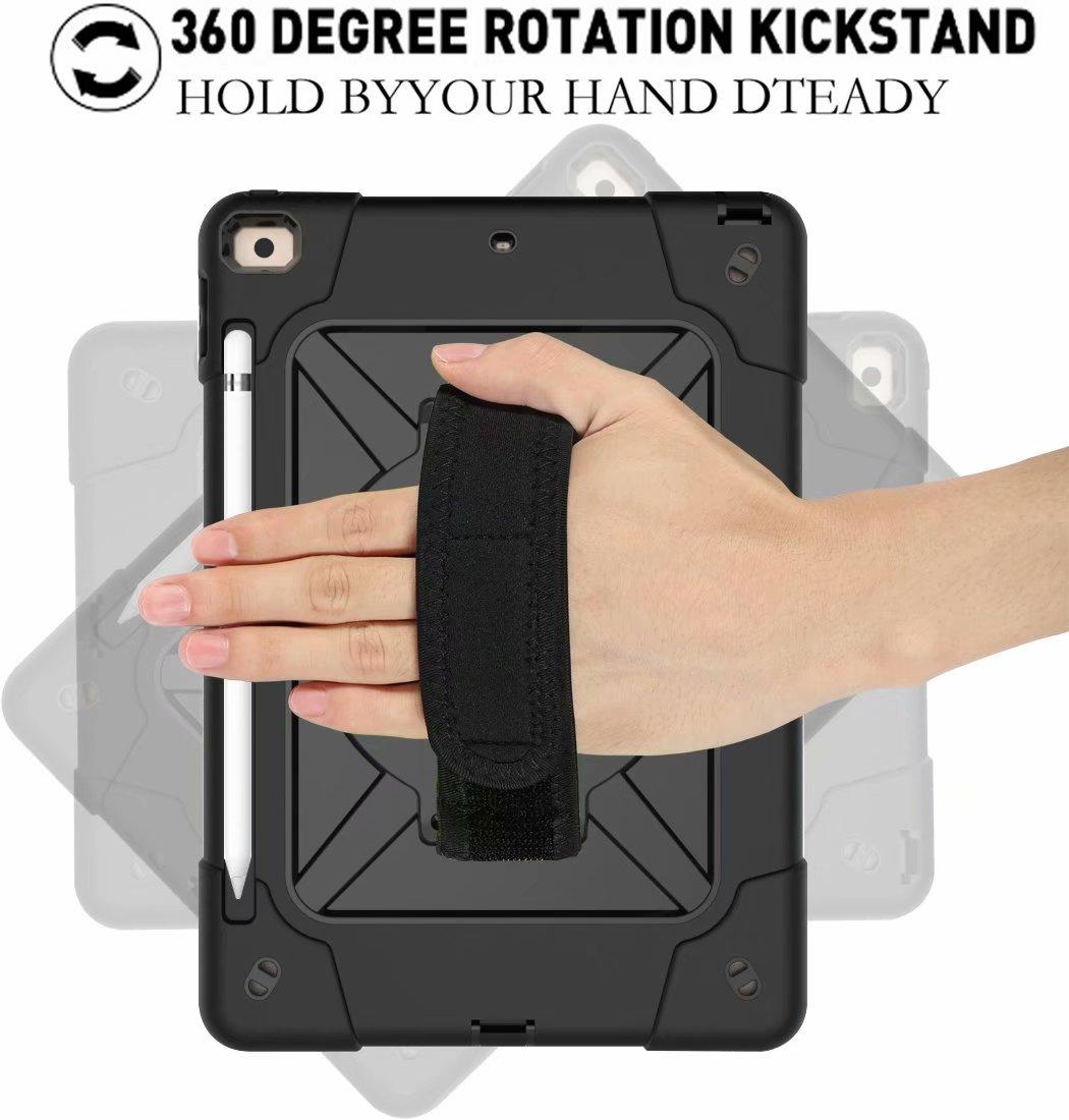 Shockproof Rugged Hybrid Armor 8th For Case iPad Generation Pencil 2020 Holder Heavy Duty
