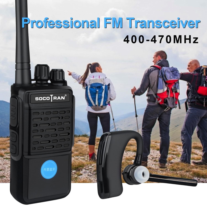Портативная рация, Беспроводная Bluetooth-гарнитура, двусторонняя радиосвязь, УВЧ 400-470 МГц, 16 каналов, со встроенным Bluetooth-модулем