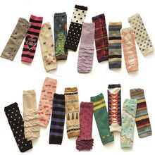 Fashion Baby Girl Kid Stripe Hearts Flower Long Socks Tights Arm Leg Warmers WATXW0007