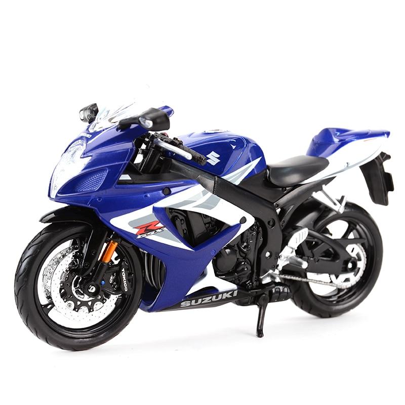 Maisto 1:12 Suzuki GSX-R750 Die Cast Vehicles Collectible Hobbies Motorcycle Model Toys