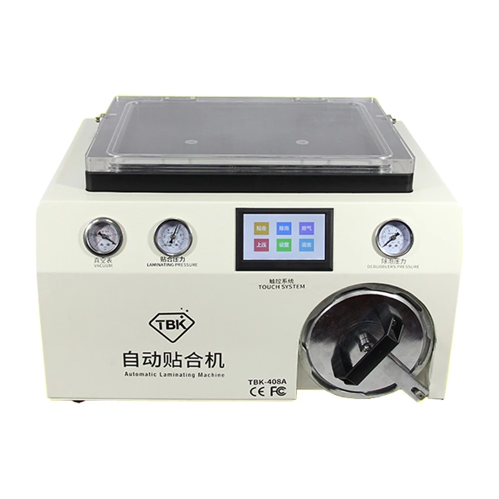 رخيصة الثمن 2 في 1 TBK 408A OCA آلة الترقق و LCD ماكينة إزالة فقاعة