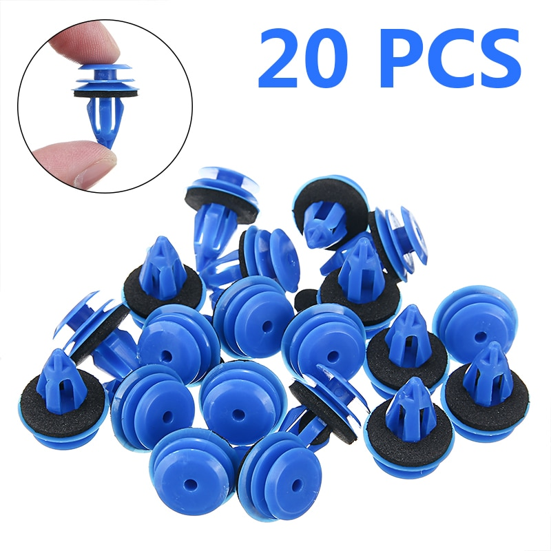 20pcs Plastic Clips Car Door Guard Front Rear Wheel Arch Trim Fastener Clips Kit Fit For Land Rover Evoque