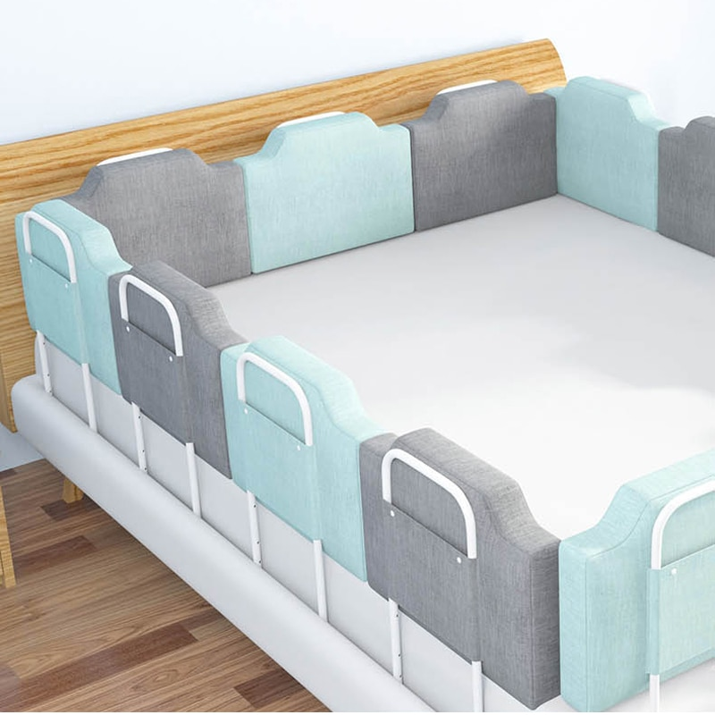 4 size blue pink color120 150 180 200cm baby bed fence guardrail baby crib guardrail bed rails bed buffer type meters general Newborn Bed Fence Bed Safety Guardrail for Children 0-6 Years
