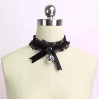 lace necklace bow knot bell choker necklace womens cute collar gothic simple sexy lovely pendant girls party fashion jewelry