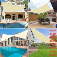 300d waterproof polyester sunshade rectangular square sail for shade garden terrace canopy swimming camping