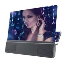 12 'pliant téléphone portable écran loupe 3D HD écran amplificateur support plus grand écran pour la vidéo