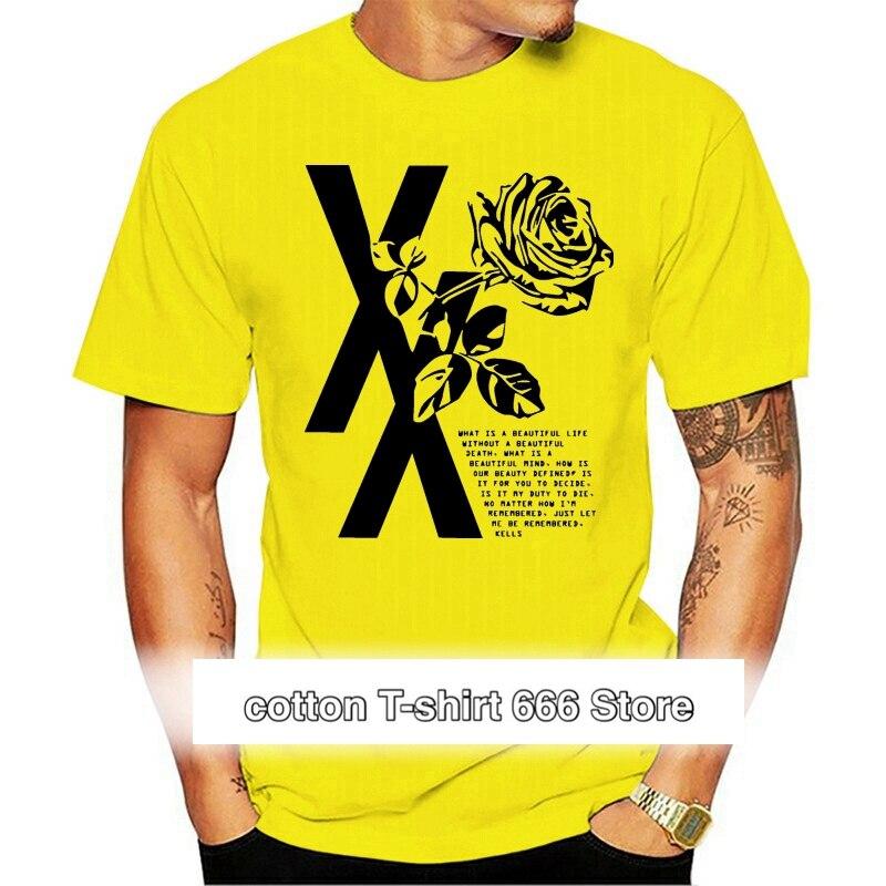 Mgk flor Rosa negro para hombres y mujeres niños blanco camiseta color...