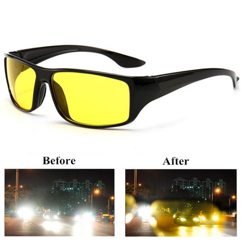Anti-Glare Night Vision Driver Goggles Night Driving Enhanced Light Glasses Fashion Sunglasses Goggles Car Accessries